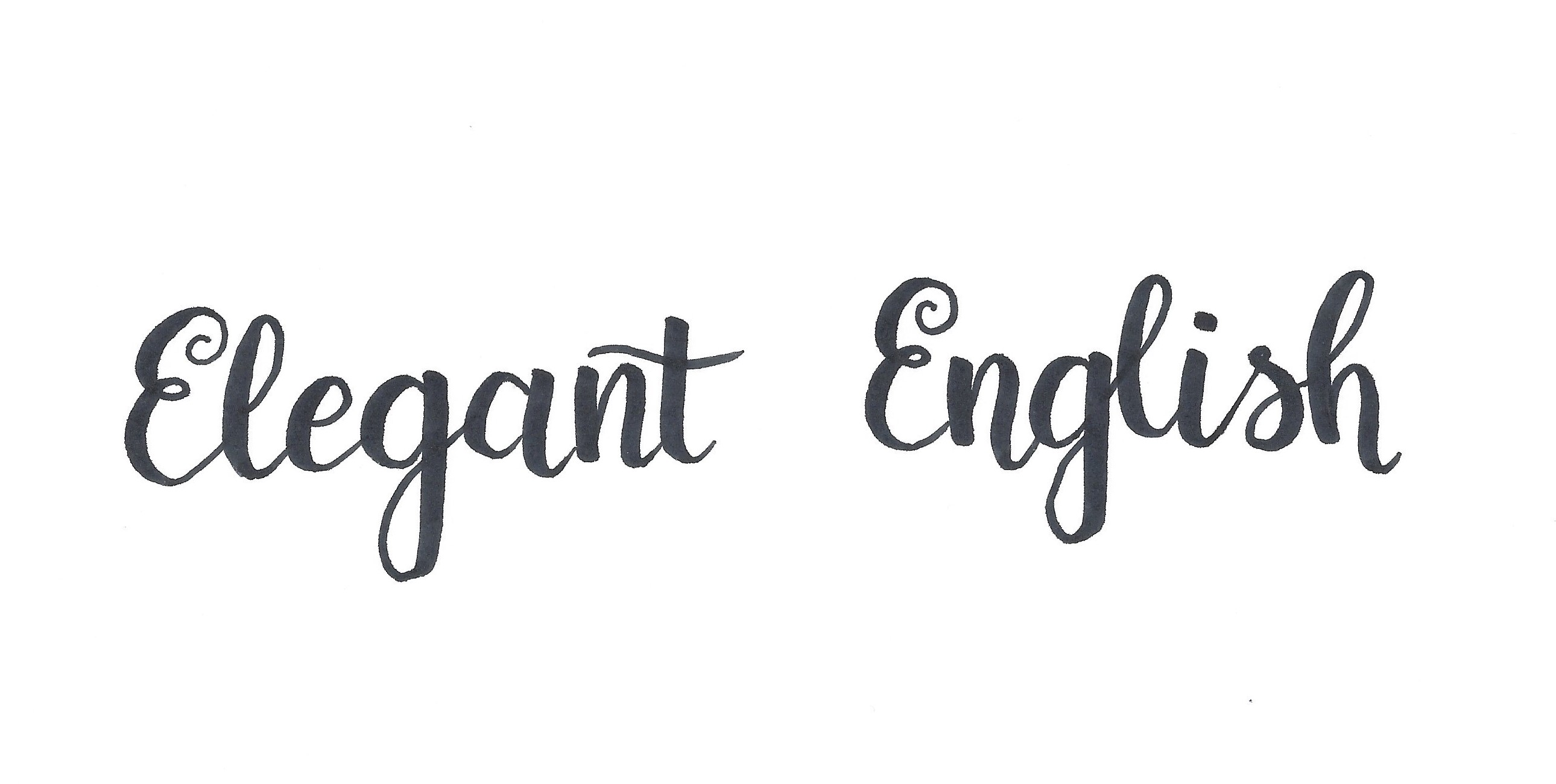 Elegant English lettering copy
